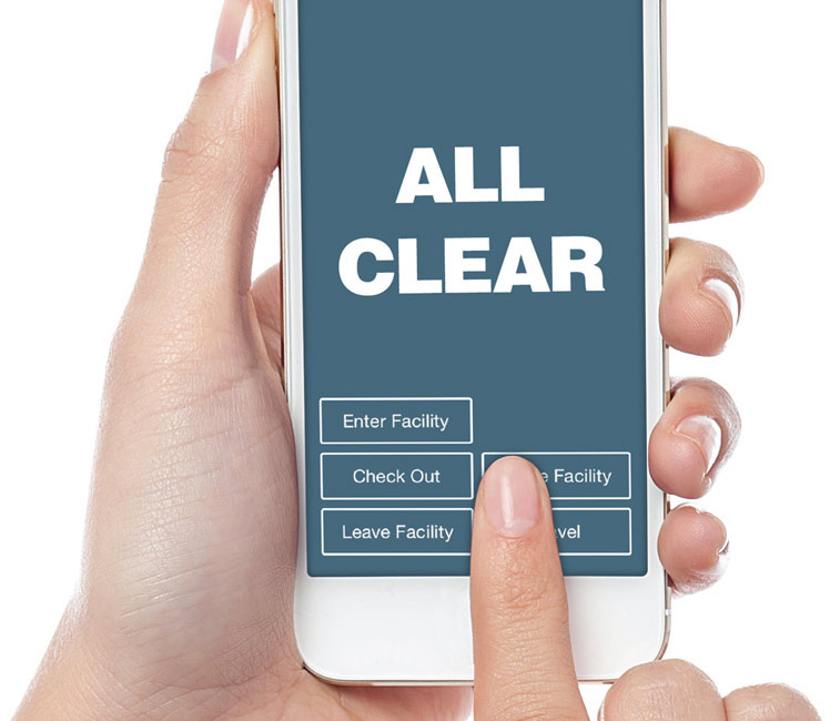 The All Clear System protects employees while clearing, leaving and closing a facility. Easy to use mobile app for Android and Apple phones.